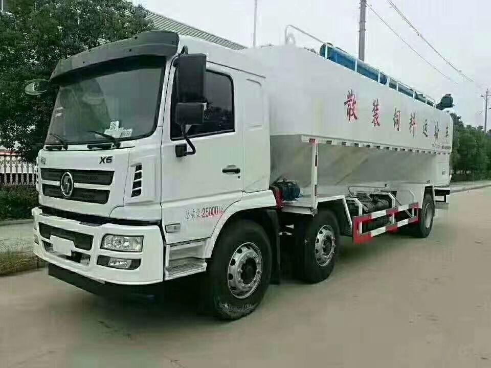 陜汽軒德三軸30方(15噸)散裝飼料運輸車