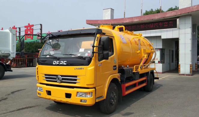 國六東風多利卡D7清洗吸污車