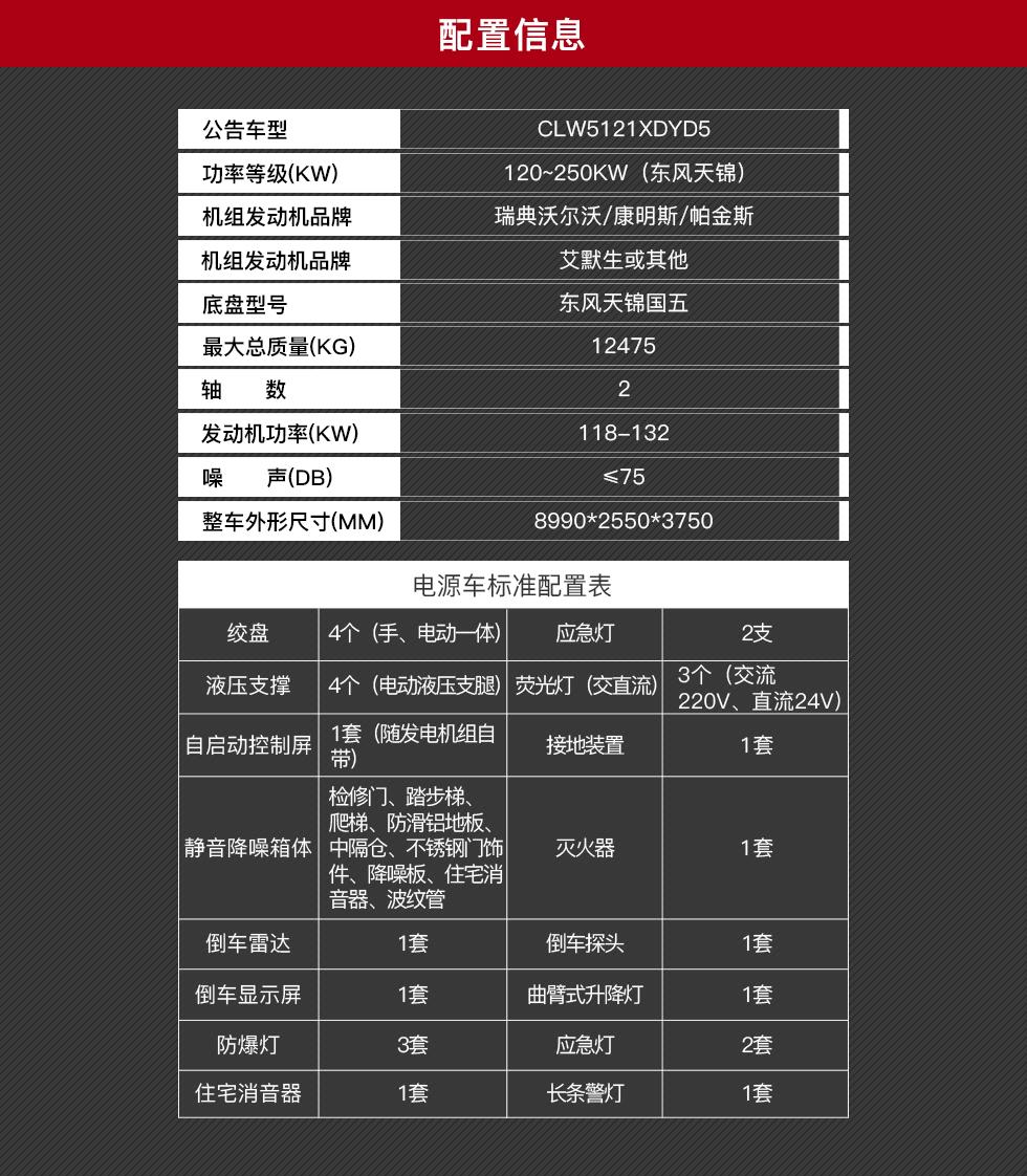 东风天锦电源车销售15271321777 (1)