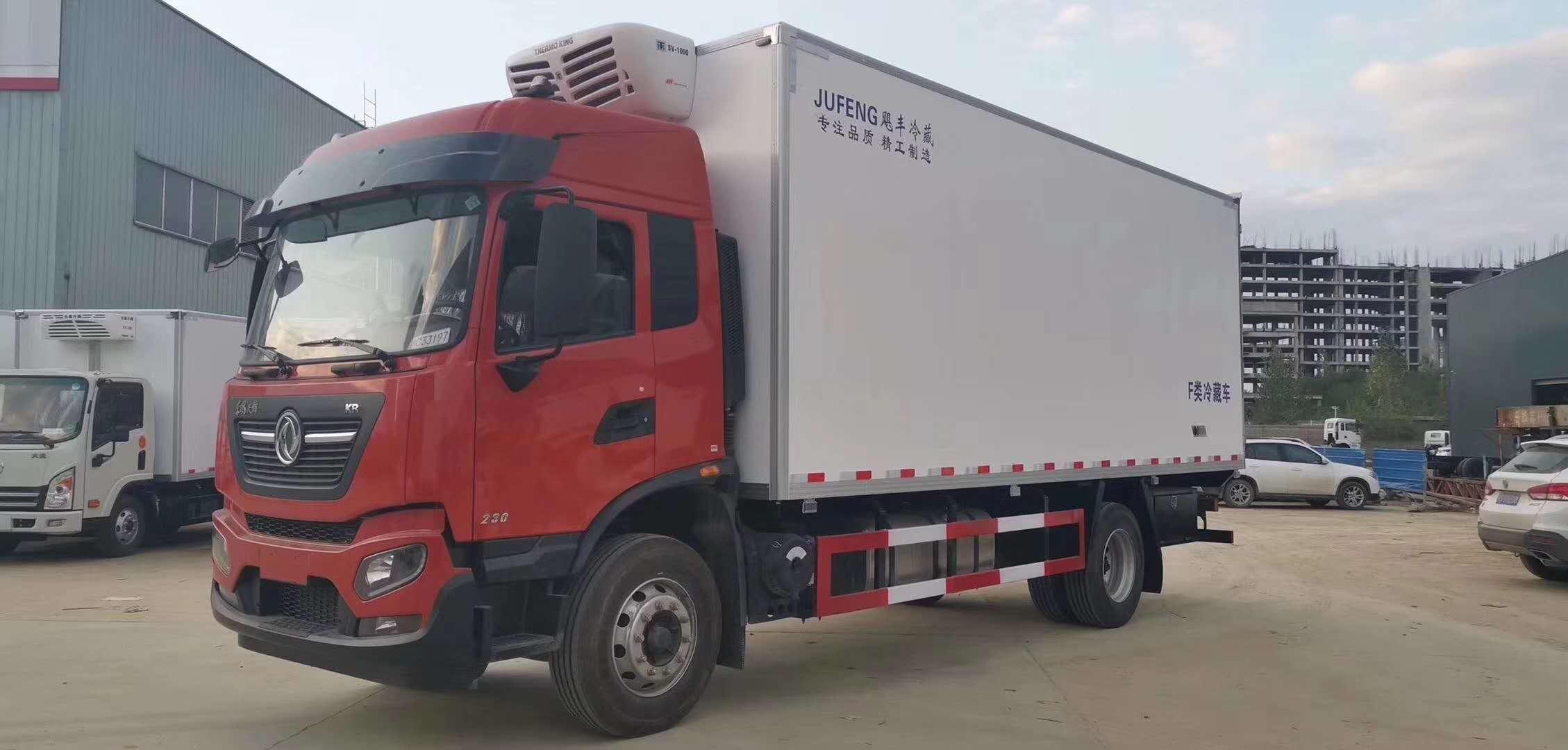 新款东风天锦6.8米厢体冷藏车厂家优惠价
