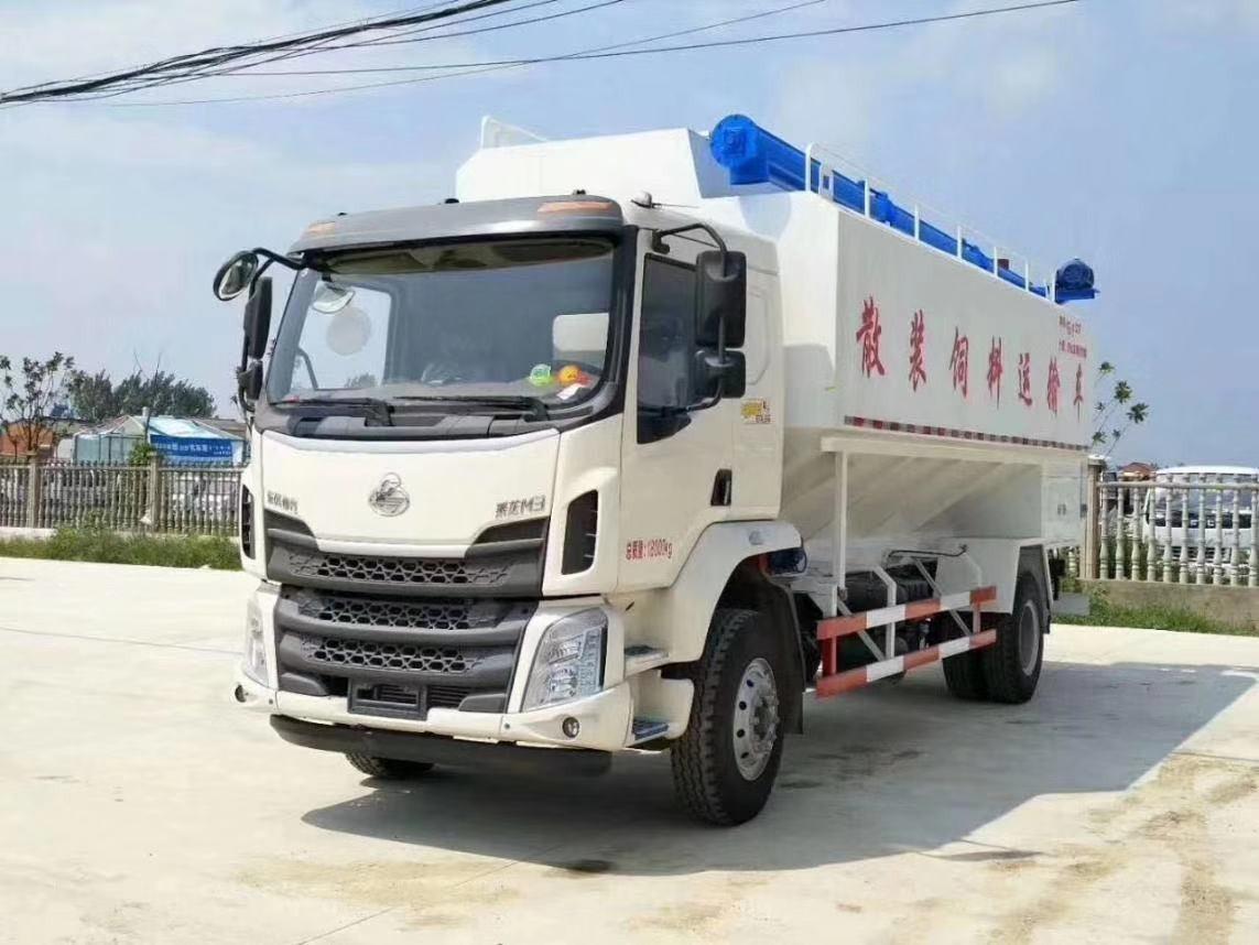 柳汽乘龙28方14吨散装饲料运输车