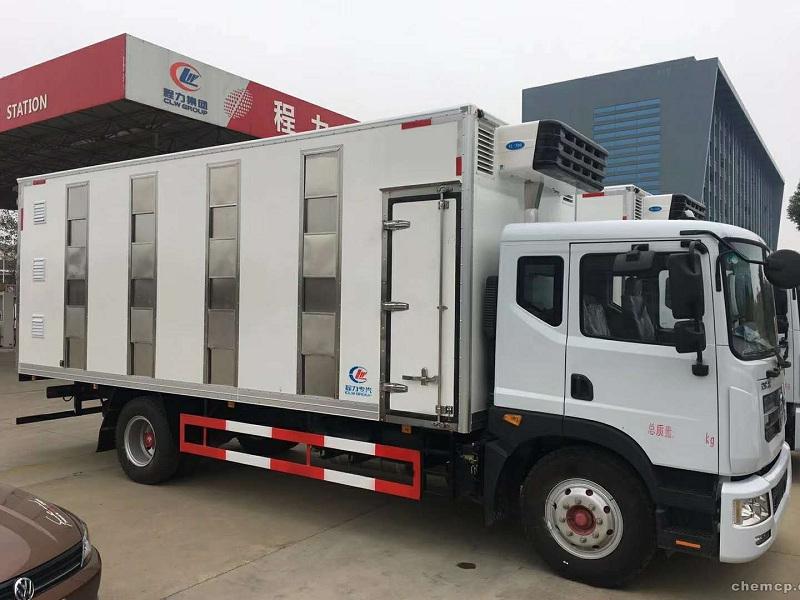 帶恒溫系統的畜禽運輸廂式車,畜禽車配置圖片專汽詳情頁圖片