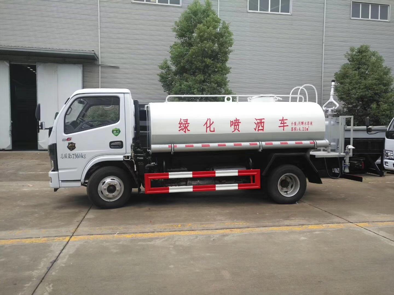 東風多利卡D9灑水車帶30米霧炮,山東臨沂客戶試車中,準備發車