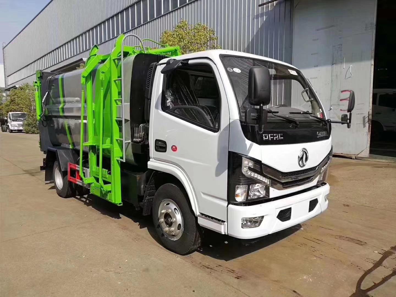 國六東風多利卡D6自裝卸式垃圾車6方