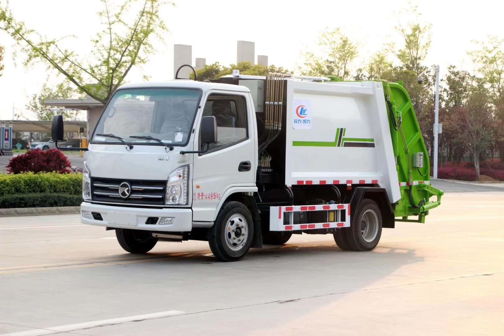 国六蓝牌3方压缩式垃圾车