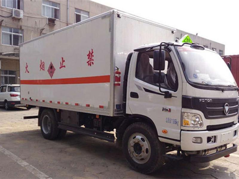 抢购中福田奥铃7.3吨烟花炮竹运输车10万一台开回家
