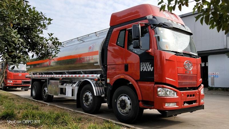 解放J6油罐车 铝合金罐体 拉20吨柴油不超重 促销 视频