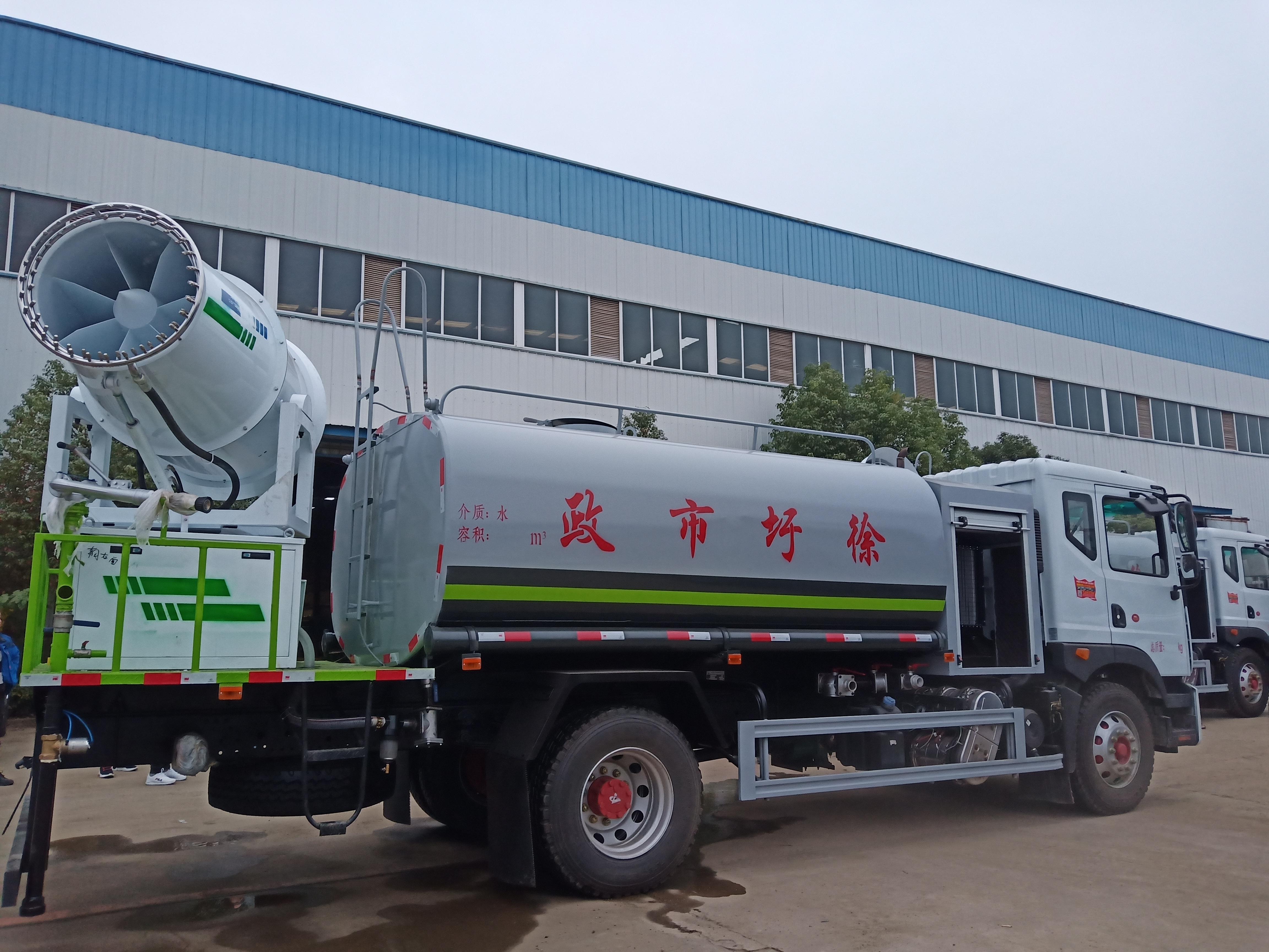国六东风D9 12方多功能抑尘车(60米喷雾机)图片