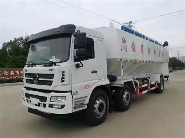 陕汽轩徳30方15吨散装饲料运输车