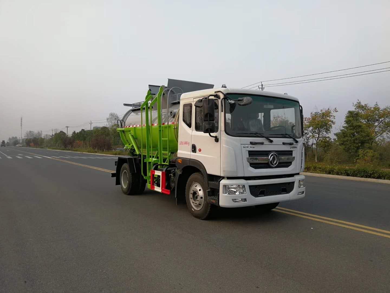 东风D9餐厨垃圾车,城市餐厨垃圾收集车厂家最新价格