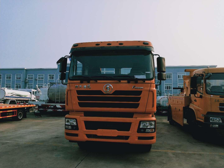25吨~30吨陕汽德龙前四后八重型拖吊一体高速公路救援拖车