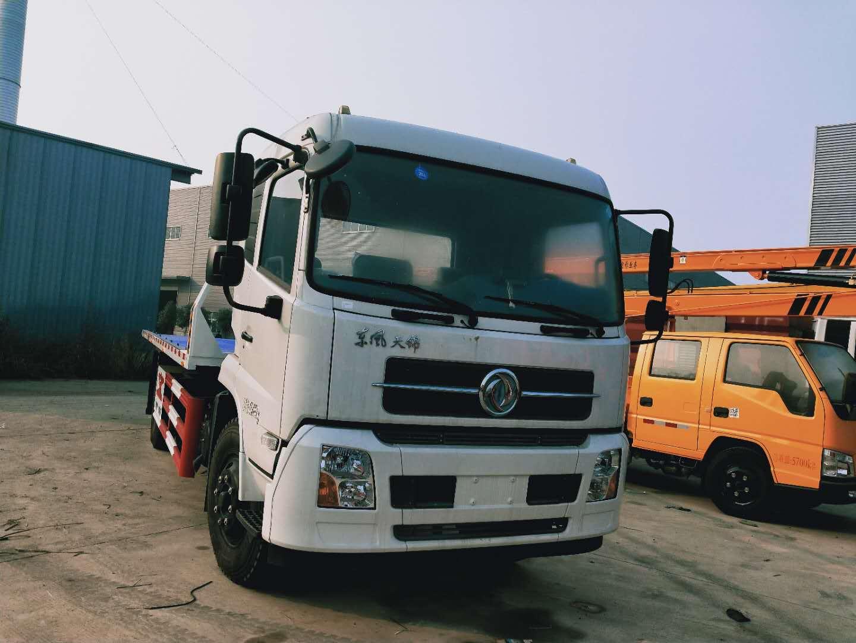 价格最低全新8吨东风天锦一拖二平板清障救援拖车图片