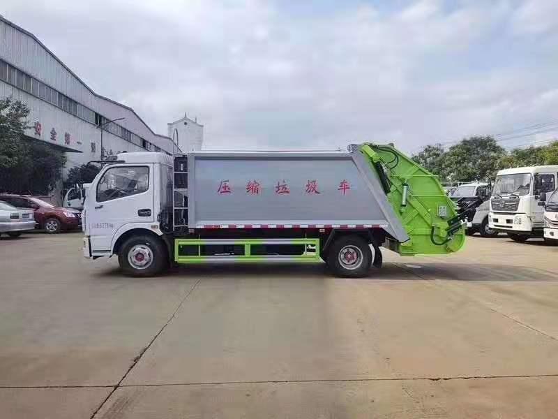 东风多利卡D7压缩式垃圾车8方压缩式垃圾车厂家直销优质价廉!图片