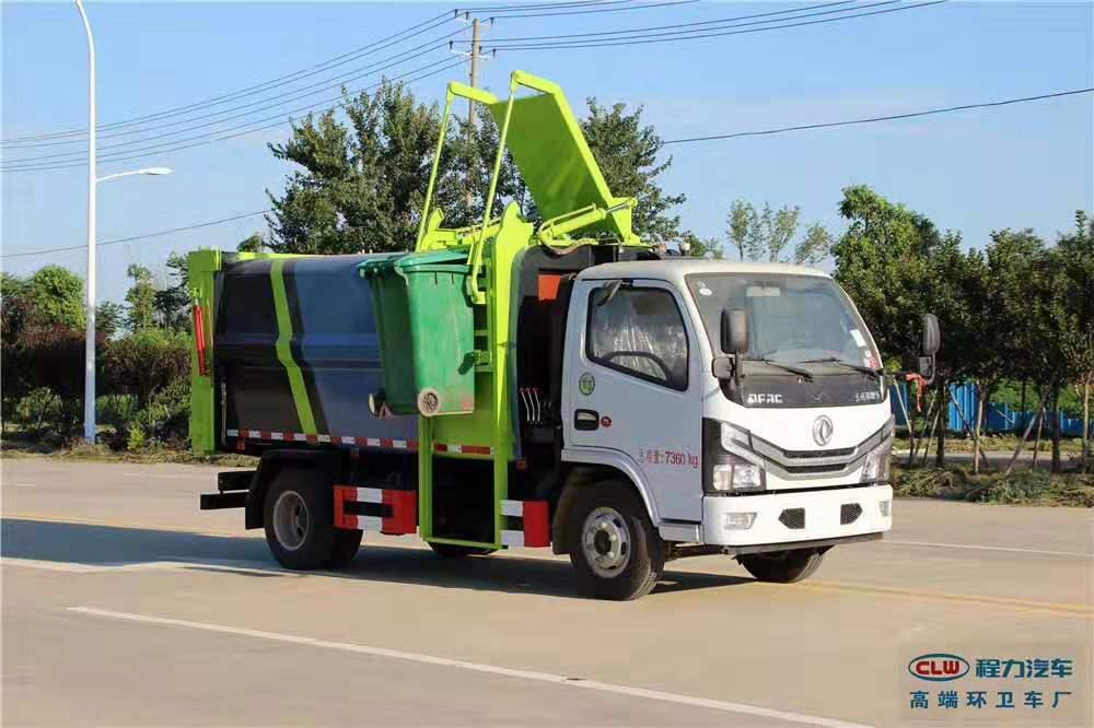 國六小多利卡5方側裝壓縮對接式垃圾車,專用車的價格小車的配置圖片專汽詳情頁圖片