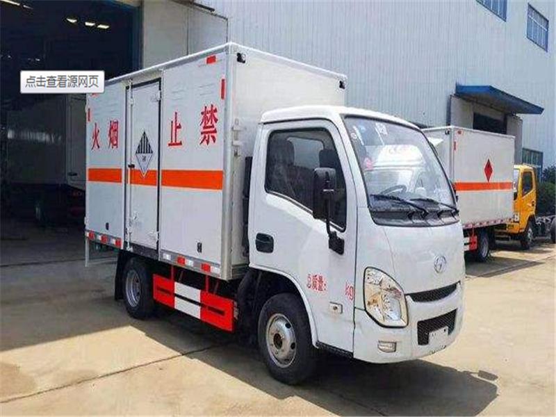 4米易燃液体厢式运输车价格多少图片