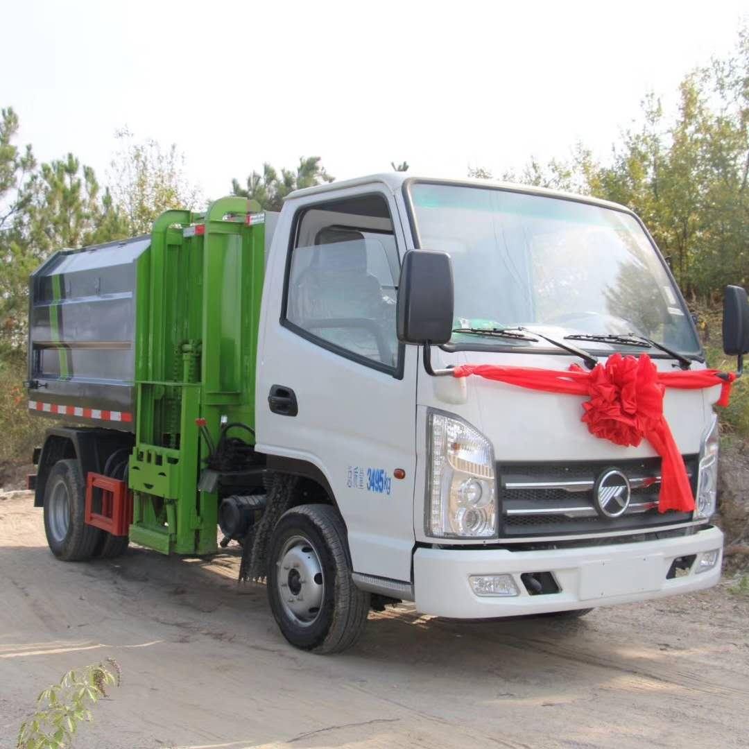 国六小型挂桶垃圾车厂家直销图片