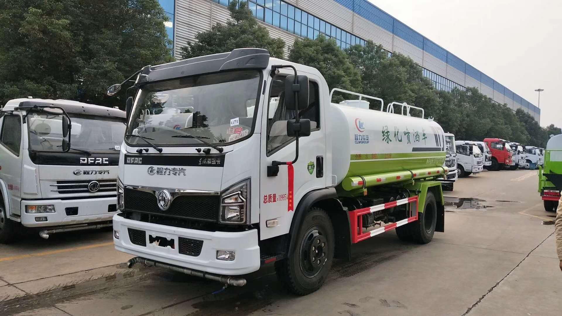 国六东风多利卡朝柴,10吨洒水车图片