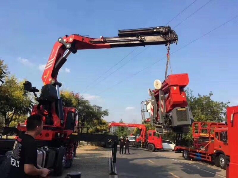 陕汽德龙前四后八25吨折臂随车吊价格直销图片