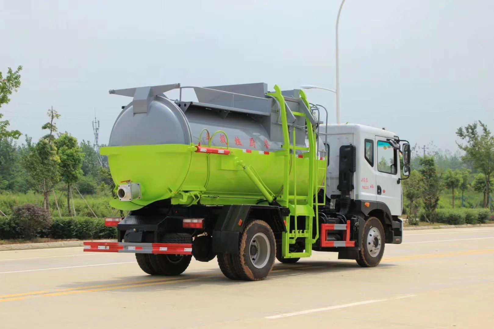 国五容积最大,8.5方餐厨垃圾车