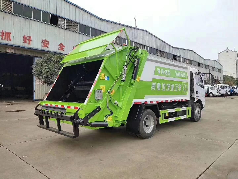 国六东风8方后装压缩式垃圾车5吨压缩垃圾车图片