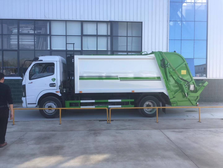 国六东风凯普特8方压缩垃圾车5吨压缩垃圾车图片