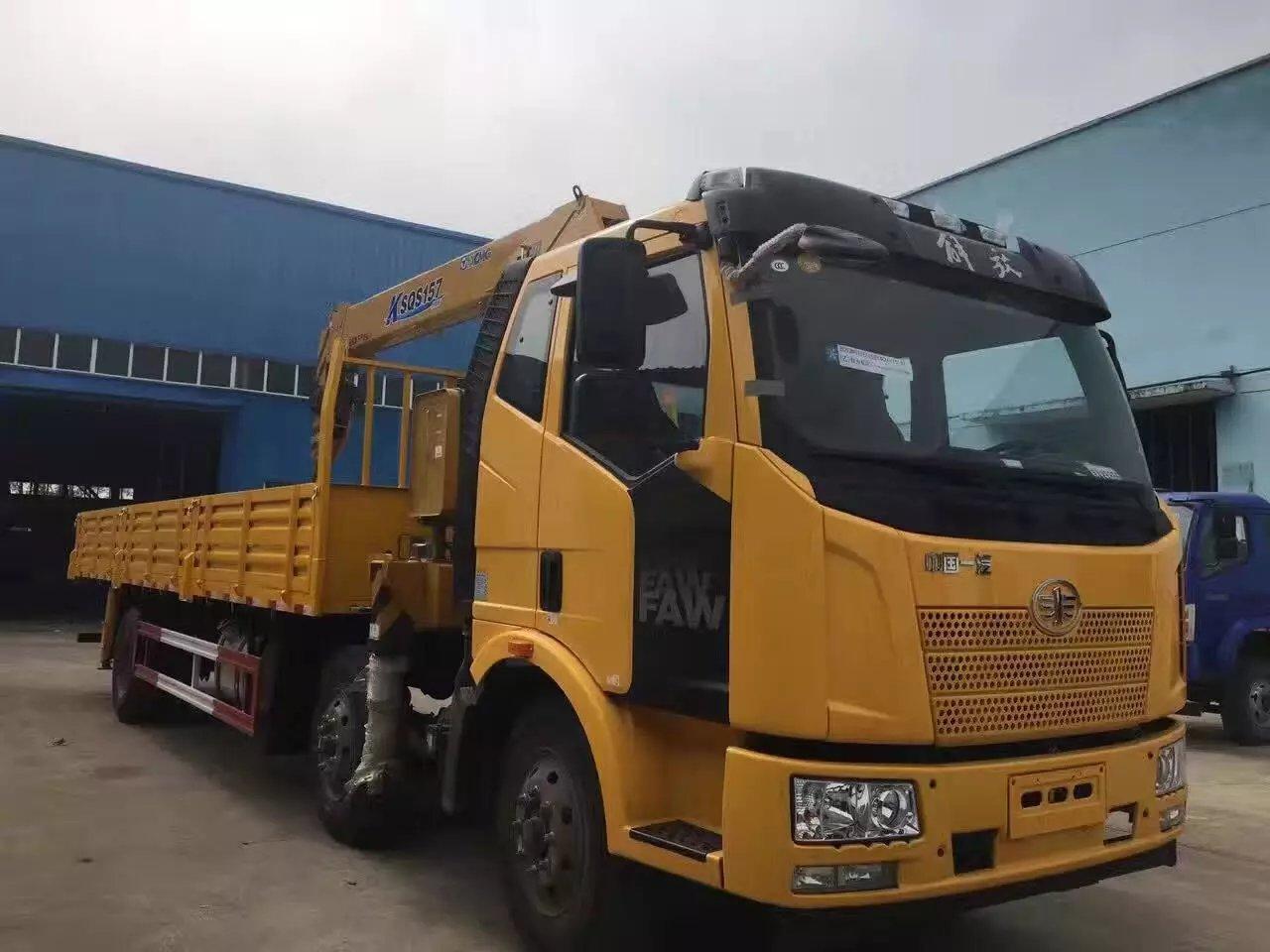解放随车吊工程黄
