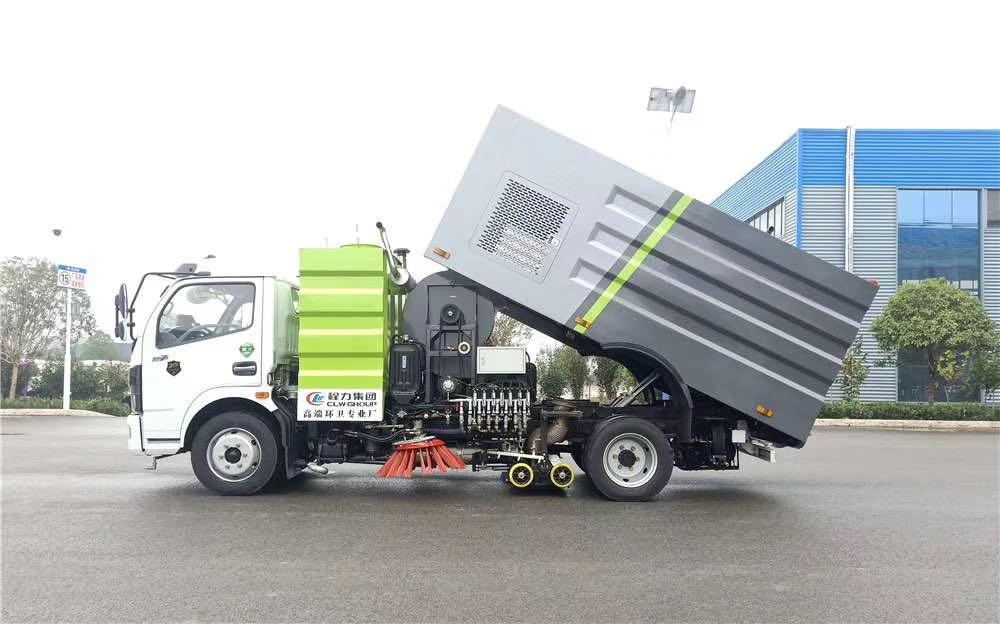 国六大多利卡洗扫车,现车! 4立方水,4立方尘 康明斯140马力副发动机,正宗304不锈钢垃圾箱视频