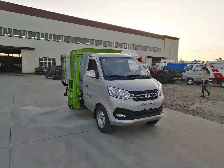 长安国五3方挂桶垃圾车,小区垃圾收运首选!