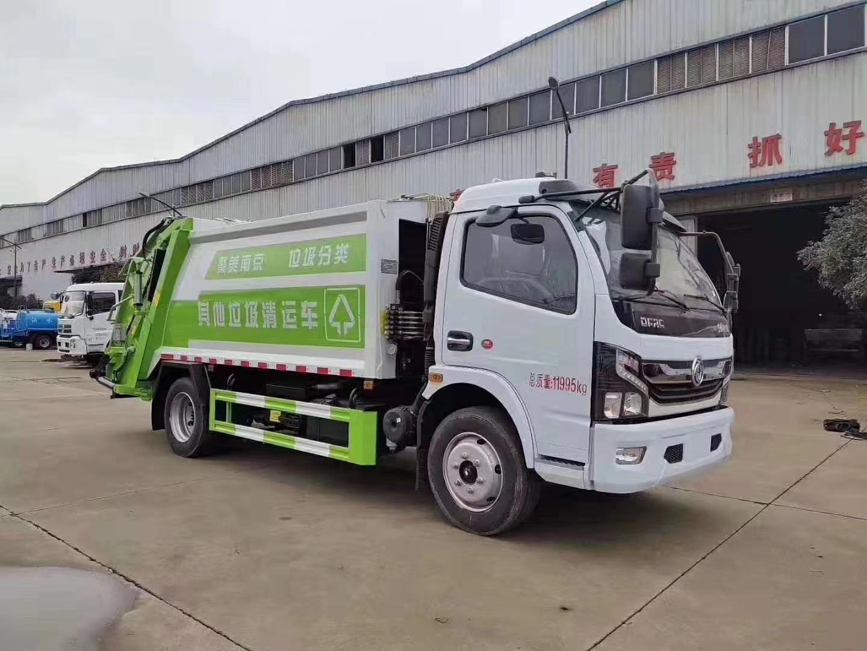 国六东风八立方垃圾压缩车图片