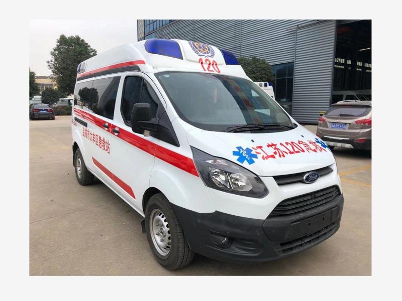 福特新全順新款國六監護型救護車發往江蘇