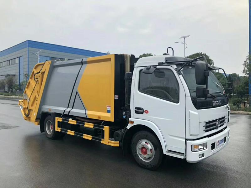 东风国六8立方垃圾车|环卫车厂家|垃圾运输车图片