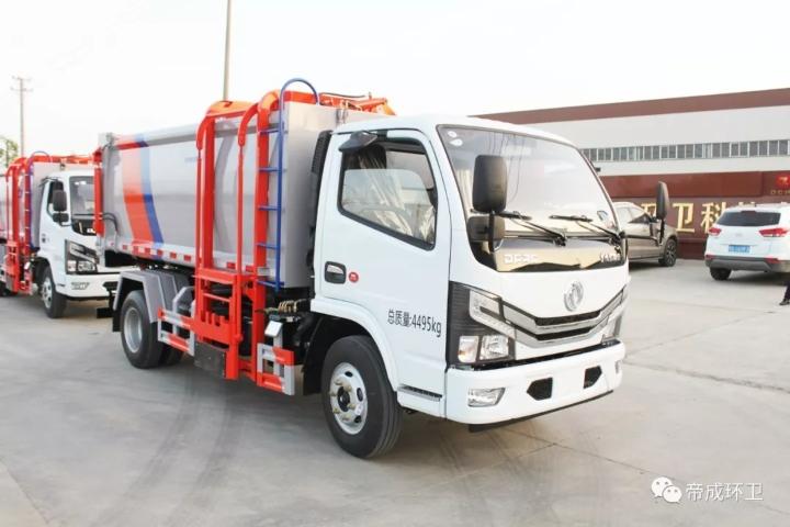 国六东风多利卡7方挂桶式垃圾车厂家价格