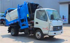 挂桶垃圾车|垃圾分类清运车|长安3方挂桶垃圾车图片