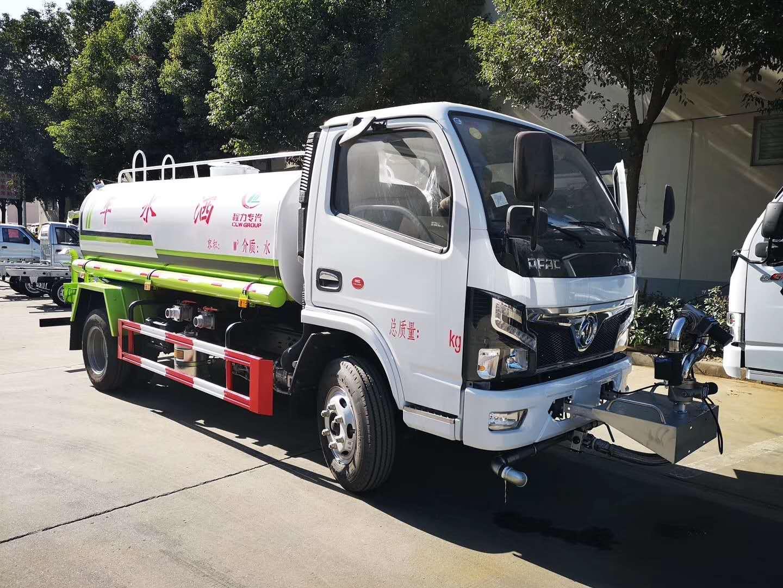 5吨东风国六洒水加装电动高炮