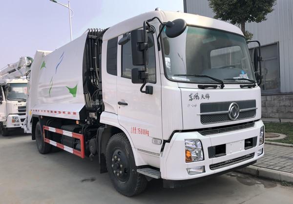 东风天锦12-14方压缩垃圾车