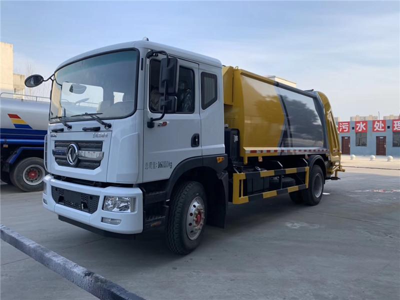 10方垃圾车-东风D9垃圾车-垃圾清运转运车价格图片