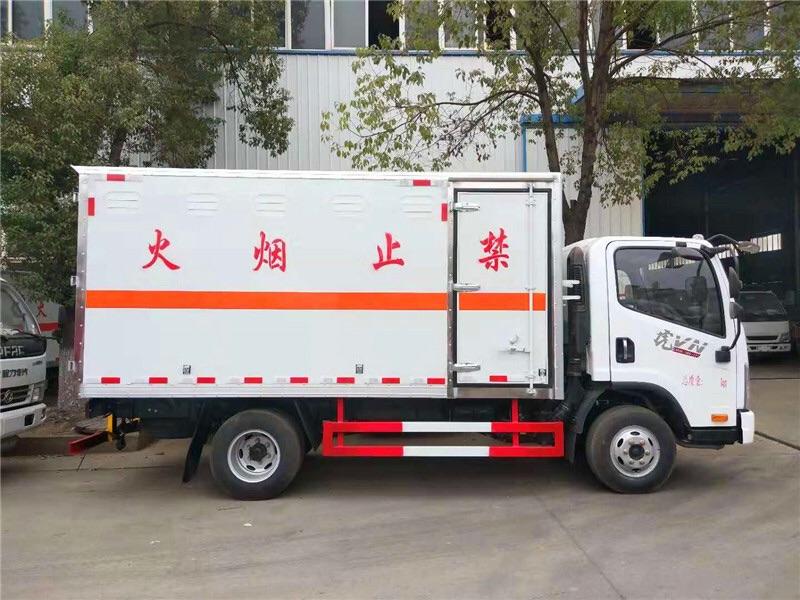 三類解放4米2易燃液體廂式運輸車在哪里買圖片