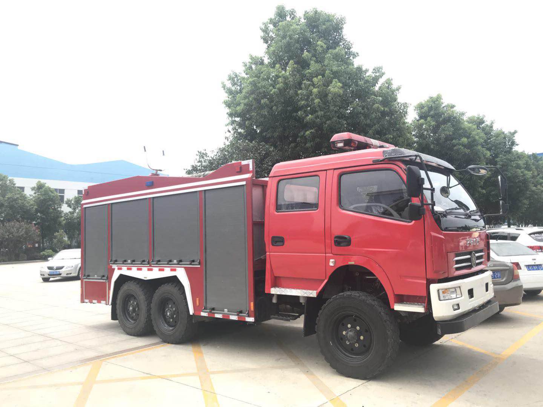 6噸水,0.5噸干粉水聯用消防車|森林消防車}六驅消防車