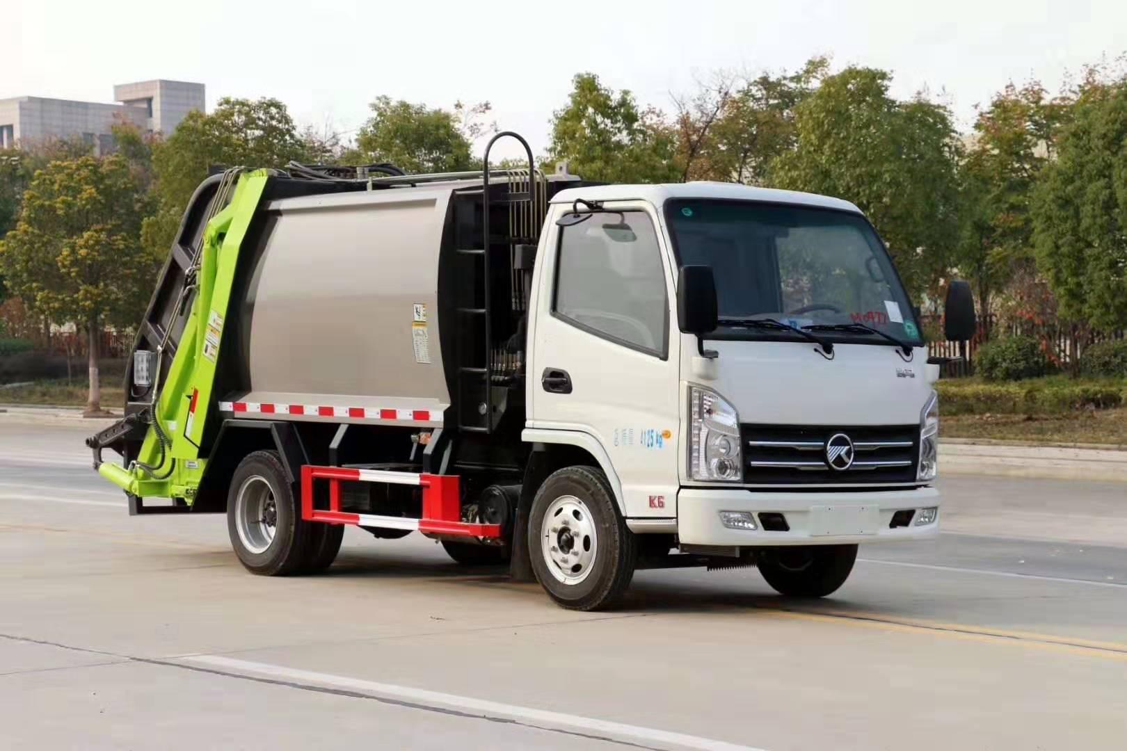 國六凱馬藍牌不超重壓縮垃圾車性價比最高的垃圾車圖片