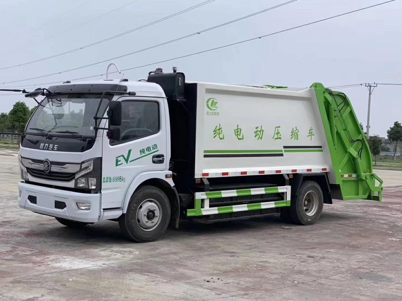 純電動8立方壓縮垃圾車可裝載6噸生活垃圾圖片