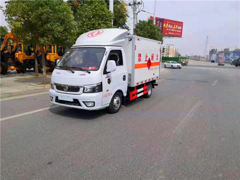 国六小型东风途逸危险品厢式运输车全国包上牌