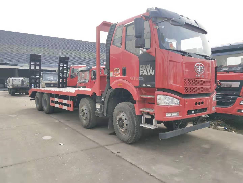 一汽解放J6P-350前四后八大挖機平板拖車