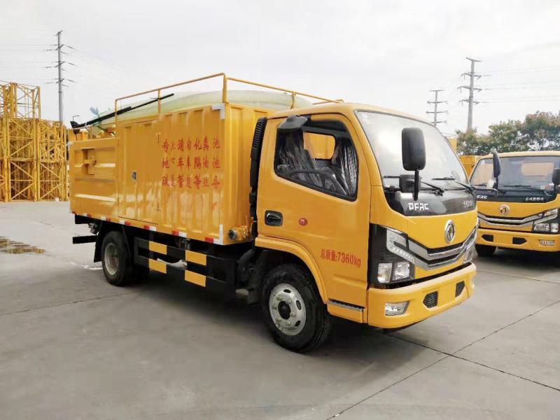 国六朝柴170马力污水处理车厂家   国六污水处理车配置视频