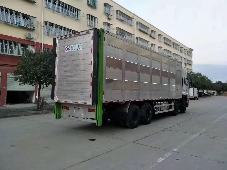 国六东风天龙畜禽运输车图片