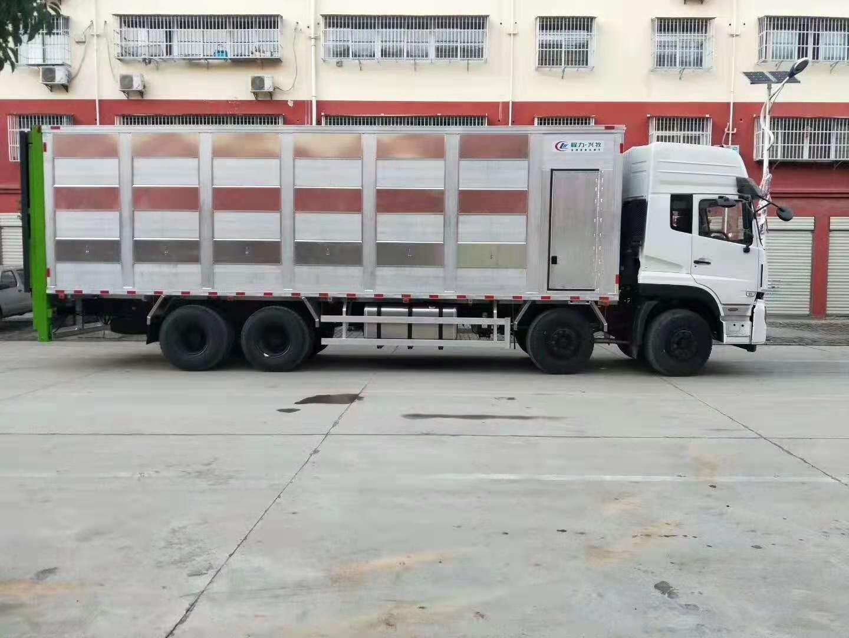 東風天龍前四后八鋁合金畜禽運輸車不生銹的運輸車圖片專汽詳情頁圖片