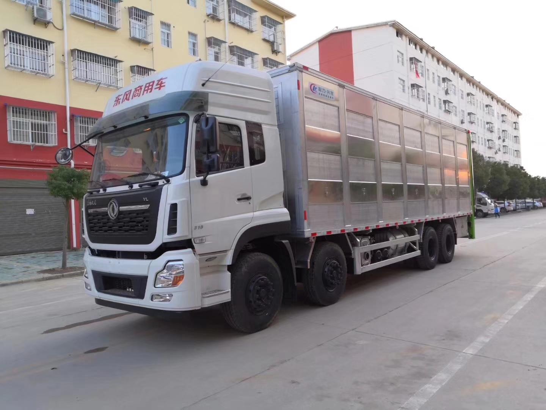 東風天龍9米6前四后八鋁合金拉豬車