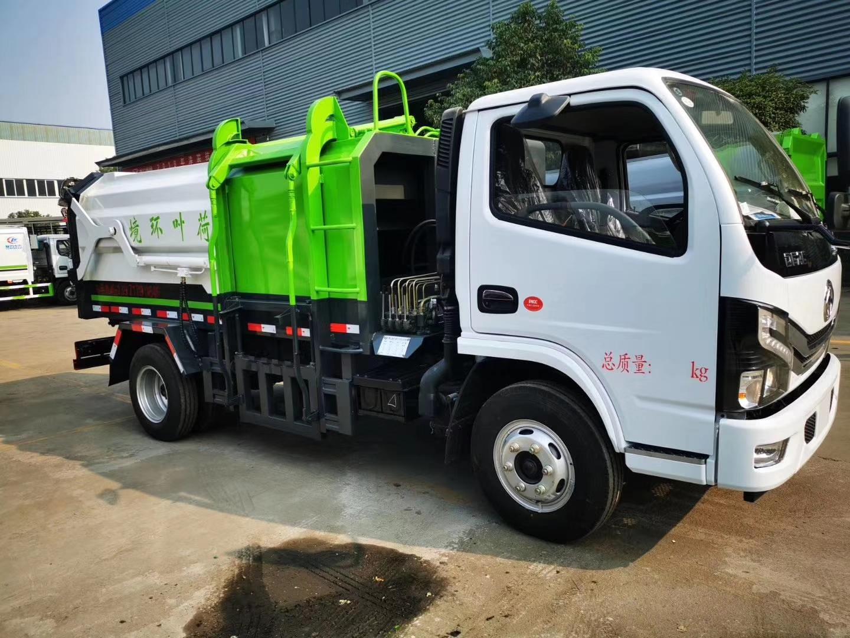 國六小多利卡側裝對接壓縮垃圾車,國六大多利卡清洗吸污車圖片