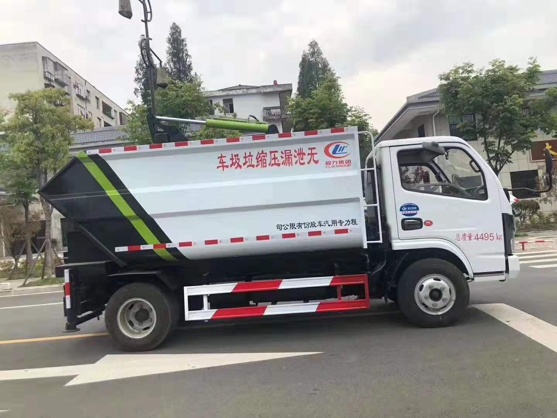 東風國六小多利卡無泄漏后掛通壓縮垃圾車圖片