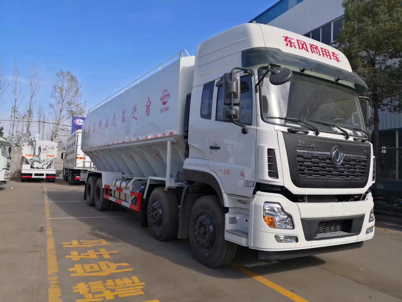 东风天龙前四后八40方20吨散装饲料运输车