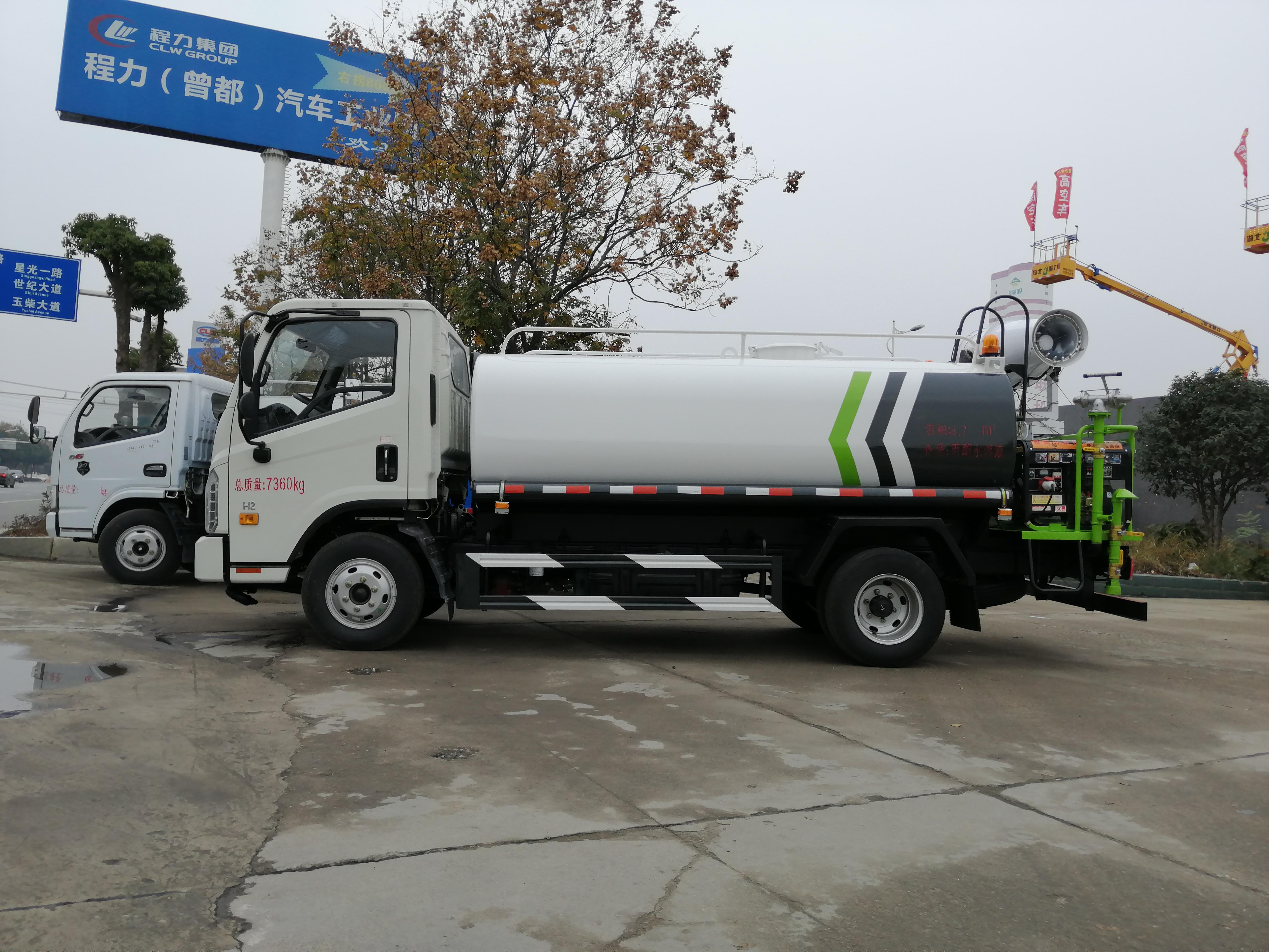 福田5吨抑尘车5吨洒水车图片